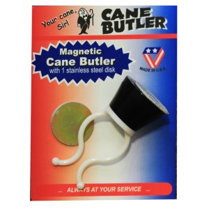 Magnetic Cane Butler & Adhesive Stainless Steel Disk For Parking Canes on Any Surface