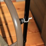 Magnetic Cane Butler Attached to a Metal Chair